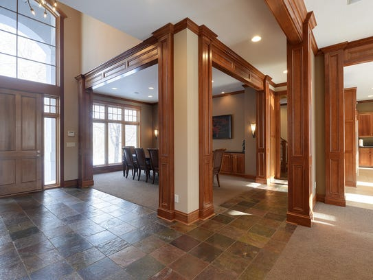 Beautiful woodwork emphasizes the lines of the home.