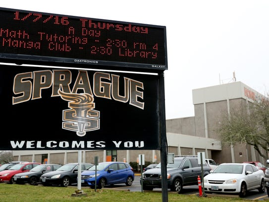 Sprague High School in Salem. Photographed on Thursday,