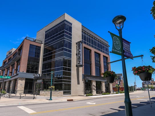 The newly constructed building for Braden Business Systems at Municipal Drive and North Street in Fishers.