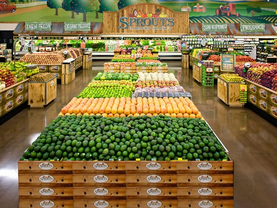 Produce, mucuh of it organic, is a signature offering