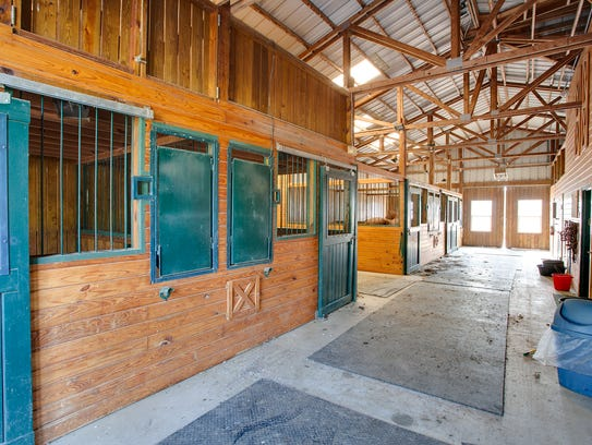 The horse stables. The house at 3208 Lobetti Road is