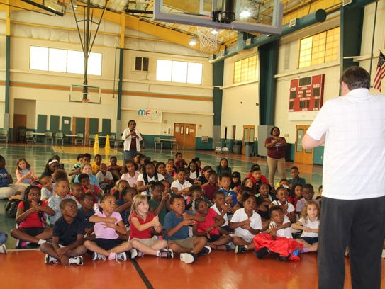 Doug Berky entertains and educates after-school students