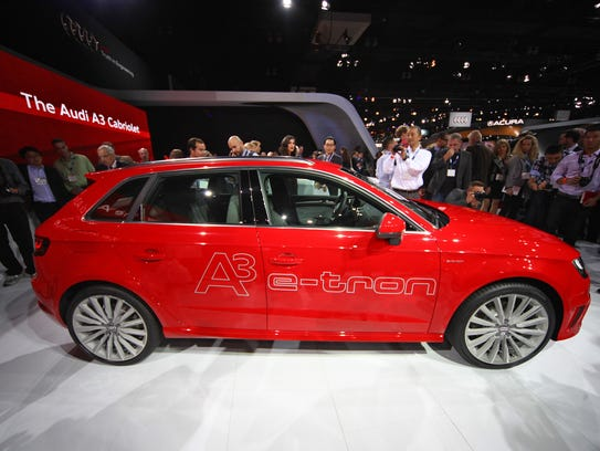 The Audi A3 e-tron was unveiled Wednesday at the L.A.