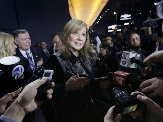 General Motors CEO Mary Barra answers questions from