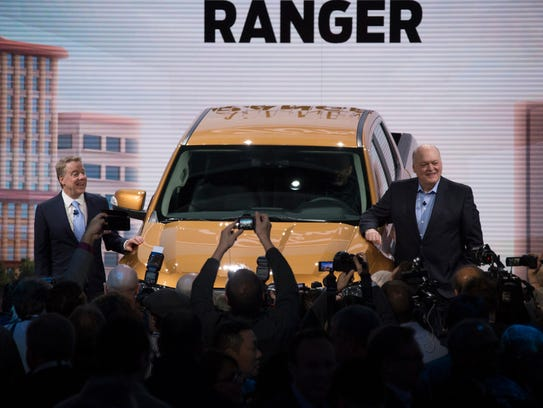 New ford ranger unveiled at detroit auto show after long for Motor city towing detroit michigan