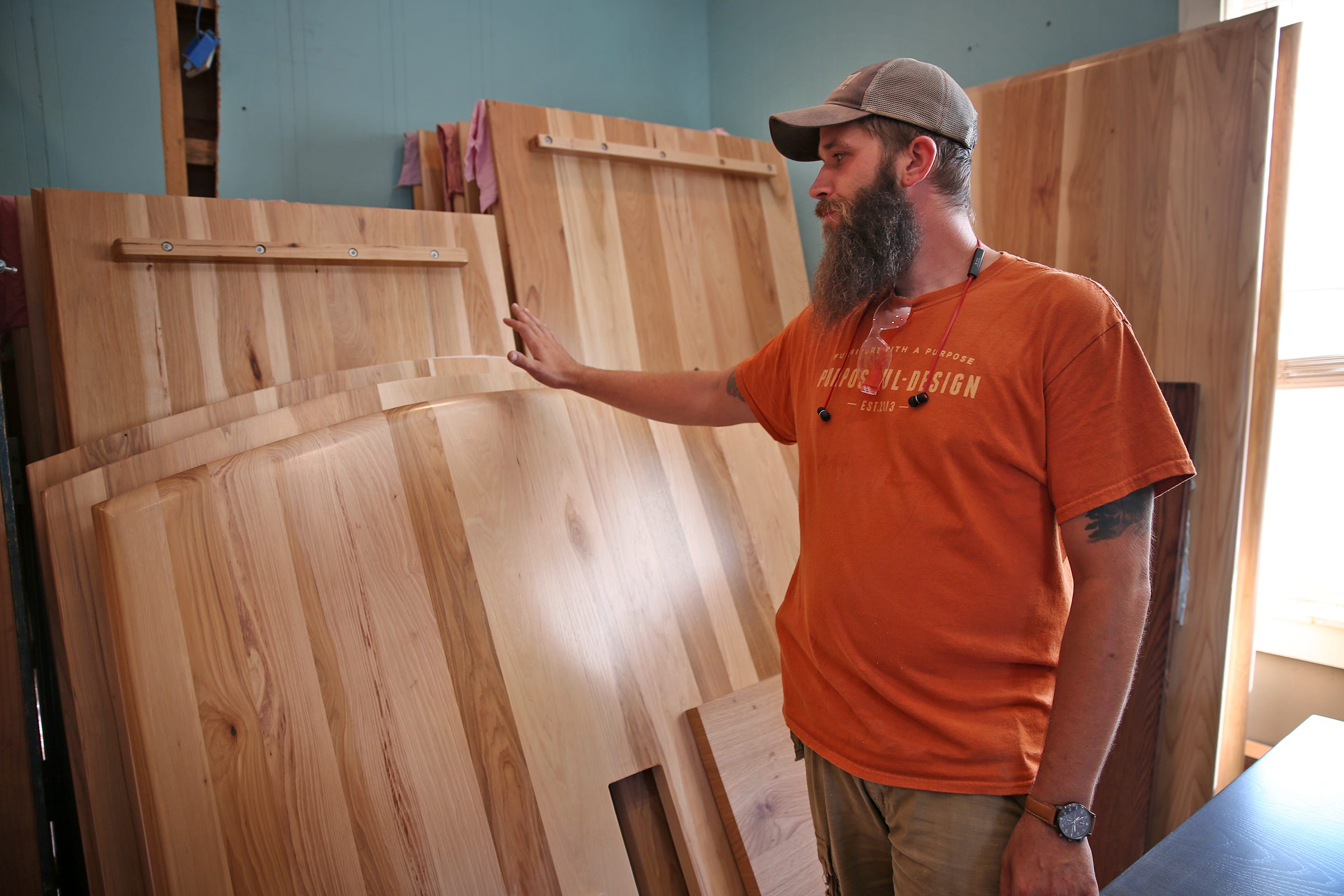 Justin Christian Shows Some Of The Finished Furniture