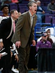 Missouri State head coach Paul Lusk yells during the