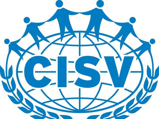 The logo for CISV International, which was founded by  Doris Twitchell Allen in 1950.