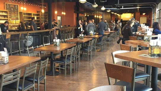 Founders' Detroit taproom seats 250.