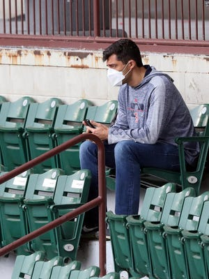 Red Sox chief baseball officer Chaim Bloom watches recent intrasquad action at McCoy Stadium.