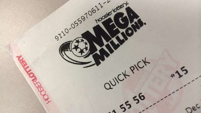 A Mega Millions ticket from the Hoosier Lottery.