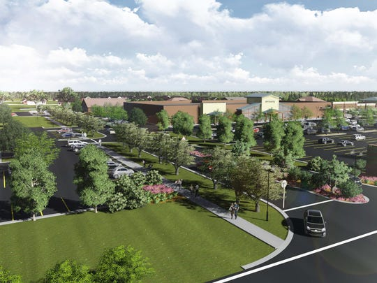 A rendering of the new Lowes Foods store that will be built in the new Village Market-East shopping center in the Five Forks area of Simpsonville.