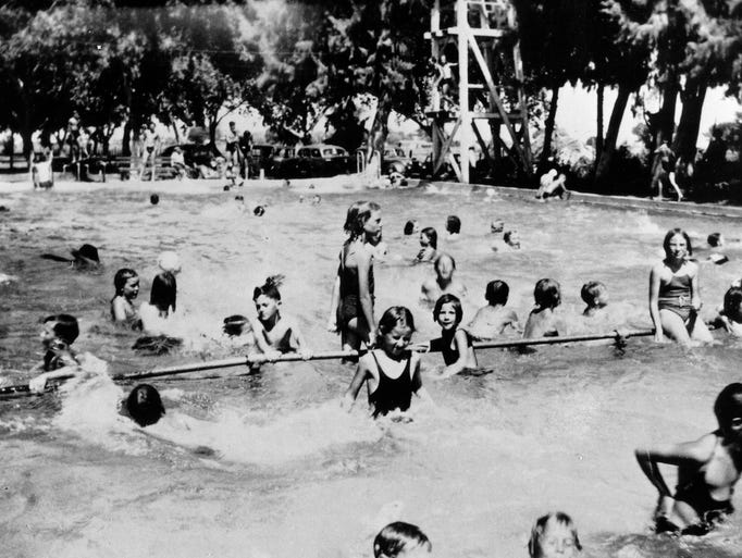 Arizona then and now for Chandler public swimming pools