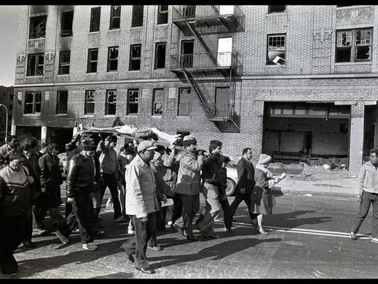 Good Friday procession, Tiffany Street, South Bronx,