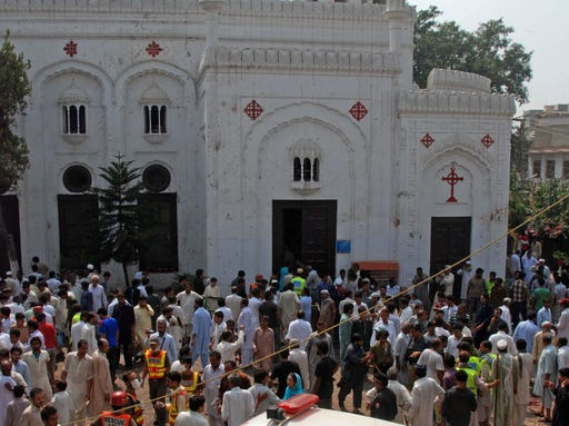PAKISTAN CHURCH BOMBING