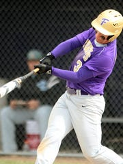 Alex Montrose had a good day at the plate and in the field for the Gladiators in Monday's doubleheader sweep of Lansing Catholic.