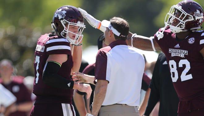 Mississippi State coach Dan Mullen's faith in quarterback Nick Fitzgerald hasn't changed.