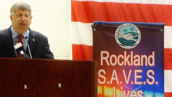 Rockland County Clerk Paul Piperato announces the new Rockland SAVES Lives program.