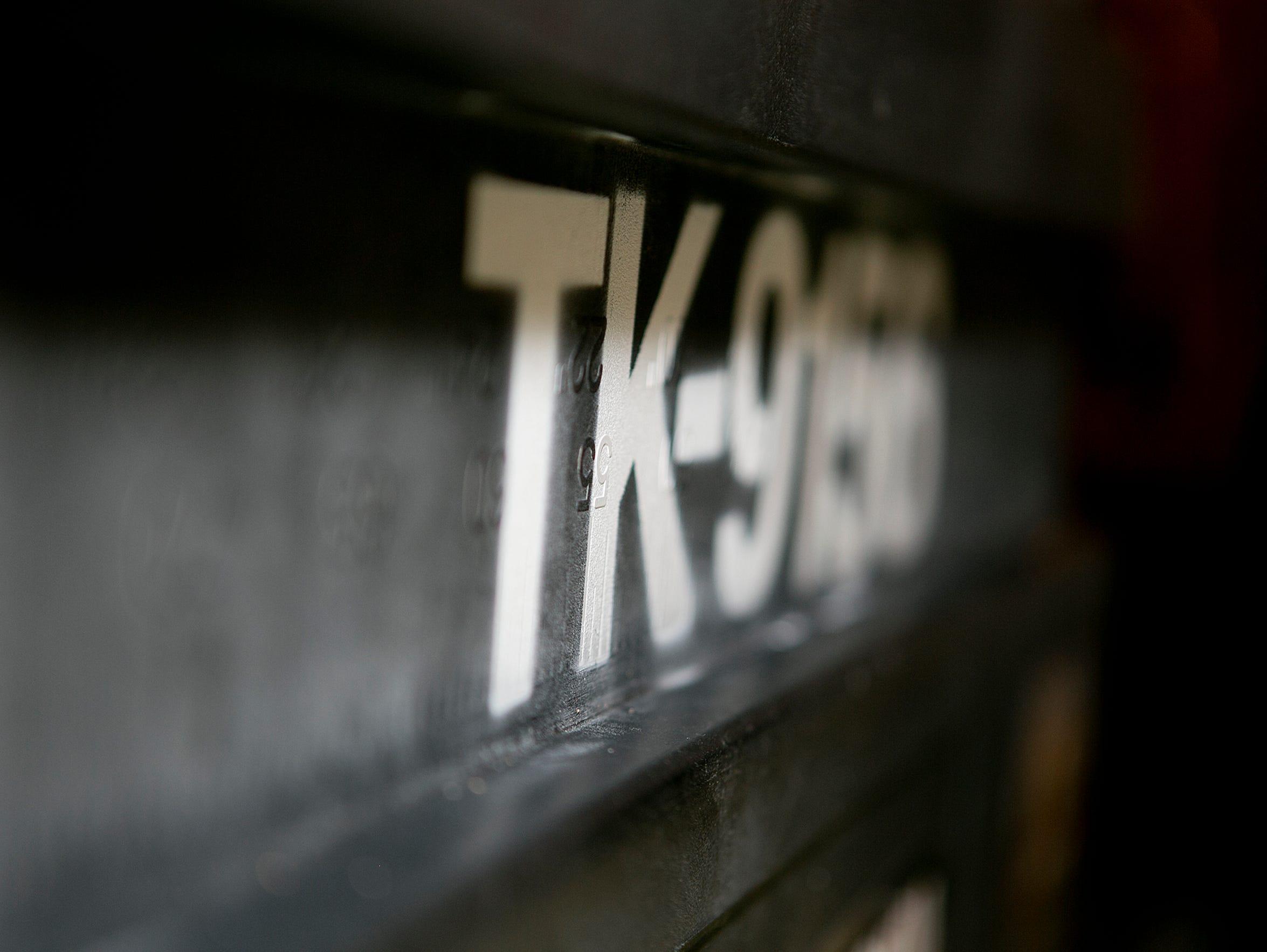 Frank Wileman's Stormtrooper name, TK-9156, is displayed