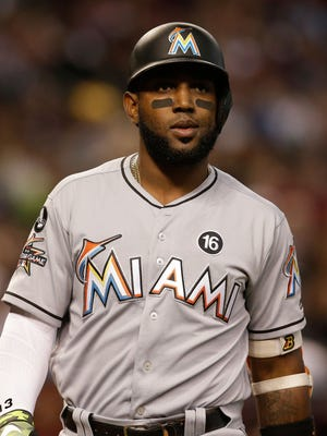 Marcell Ozuna was an All-Star in 2017 with the Marlins.