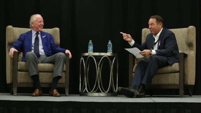 Archie Manning participates in a Q&A session with LHC Group chairman and CEO, Keith Myers.