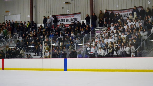 Fans at Brewster Ice Arena