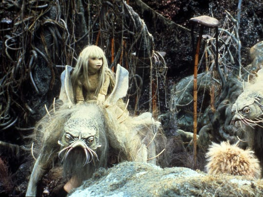 """Kira and Landstriders, pictured in a scene from """"The Dark Crystal."""""""