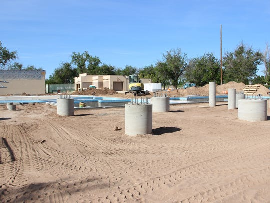 The construction site of Carlsbad's upcoming water park.