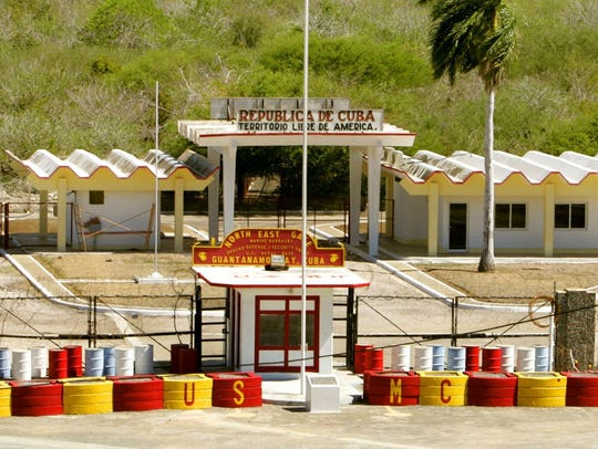 The northeast gate that leads into Cuba at Guantanamo