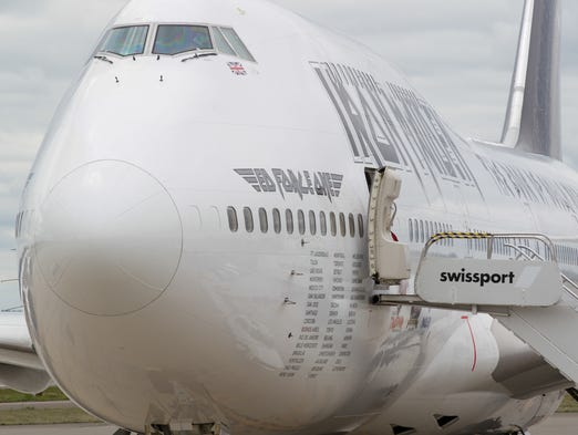With its distintive paint scheme, Iron Maiden's Boeing