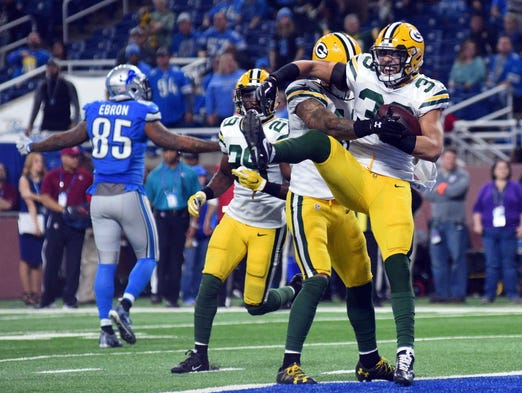 Packers strong safety Micah Hyde (33) celebrates an