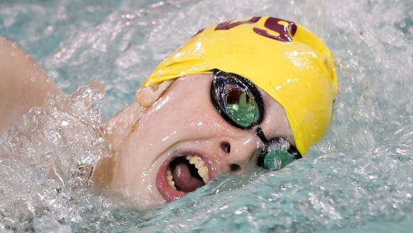 McCutcheon's Kate Gallagher on her way to winning the