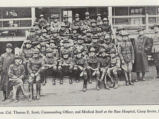 Lt. Col. Thomas E. Scott, commanding officer, and medical