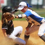 Highlands senior shortstop Haley Coffey tries to get an out at second base as Highlands fell to McCracken County 6-2 in the consolation bracket.