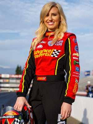Courtney Force will drive the pace car for the Clash at Daytona on Saturday night.