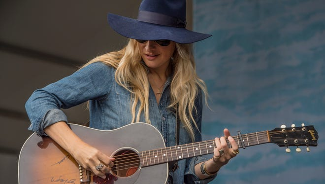 Holly Williams performs at the Pilgrimage Music & Cultural Festival at the Park at Harlinsdale on Saturday Sept. 26, 2015, in Franklin in Tenn.