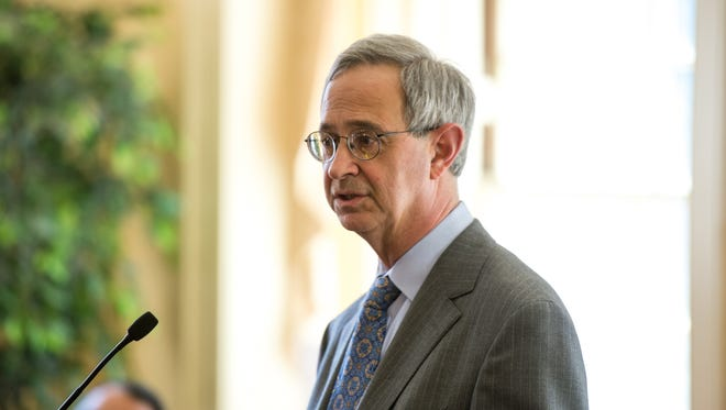 University of Rochester President Joel Seligman, shown here at the UR staff awards in Helen Wood Hall on April 21, 2014.