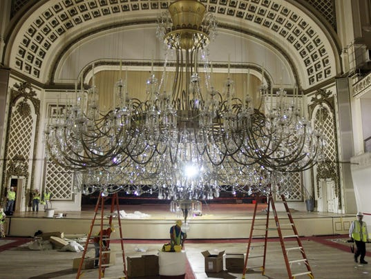 Chandelier spectacle may return after music hall renovation aloadofball Choice Image