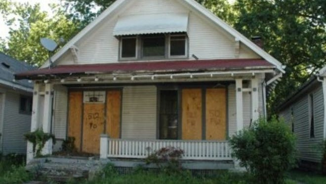 An abandoned home in Evansville