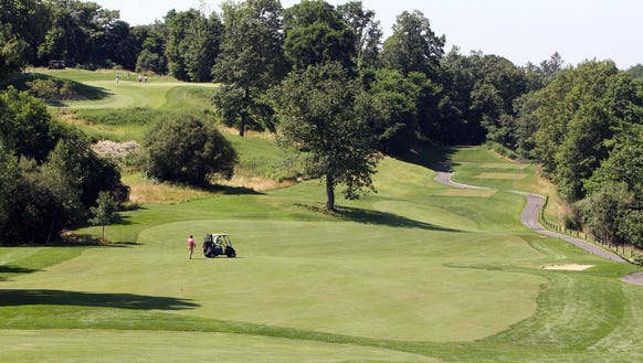 The 15th hole at Hudson Hills Golf Course in  Ossining