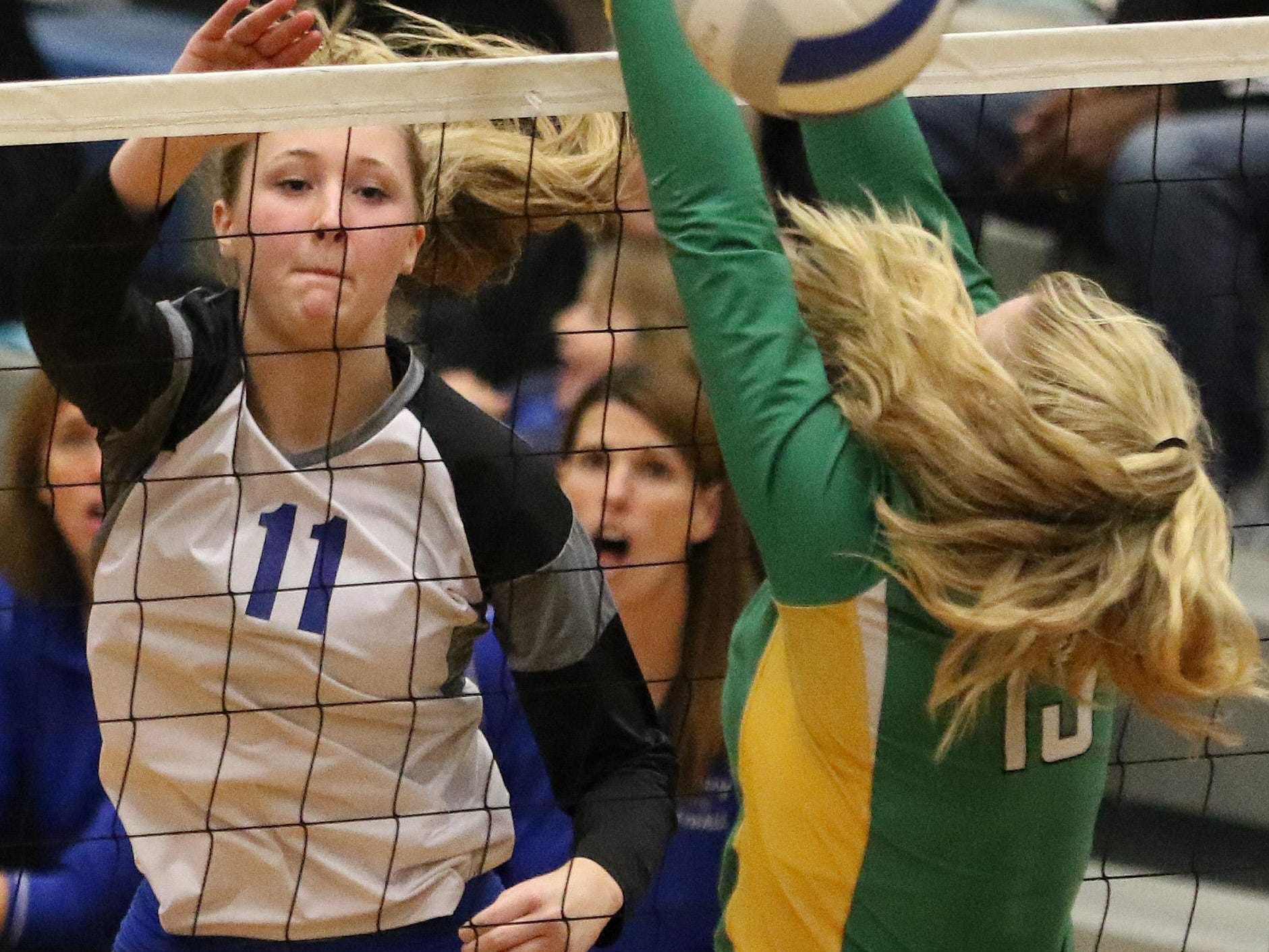 McNary's Madi Hingston and the Celtics defeat Cleveland in the first round of the OSAA Class 6A state playoffs Wednesday, Oct. 28, 2015, in Keizer.