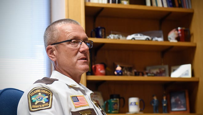 Stearns County Chief Deputy Bruce Bechtold reflects on his experiences investigating the Jacob Wetterling case during an interview Wednesday, Sept. 14, in his office in St. Cloud.