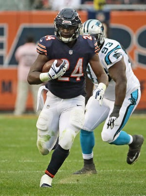 Bears running back Jordan Howard ranks fifth in the league in rushing yards but hasn't scored in the past five games.