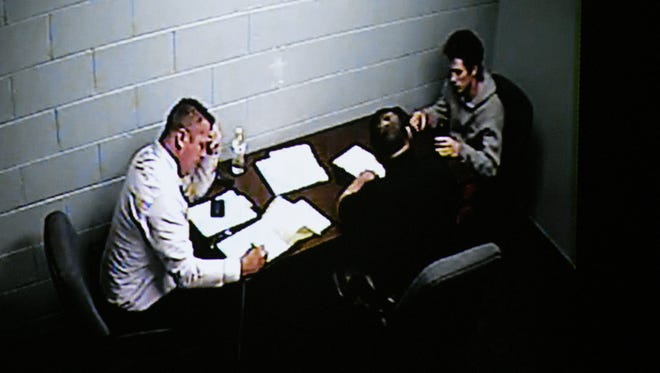 More than an hour was spent showing the interrogation of   Riley Gaul during his trial Monday, May 7, 2018. Gaul, a former Maryville College football player, is charged in the 2016 shooting death of his 16-year-old ex-girlfriend Emma Jane Walker.