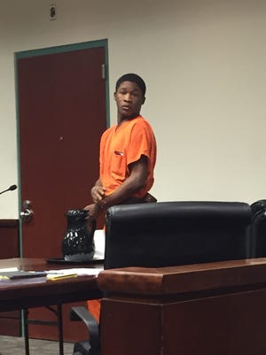 Trevonte Watts, 20, appears at a preliminary hearing at the Greenville County Courthouse. Investigators charged him and three others with murder in the death of a Savon Jair Allen.