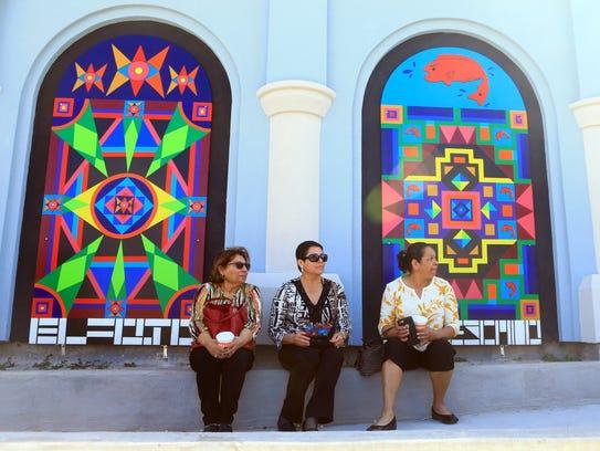 Linda Miller (from left), Santos Zamora and Tina Salinas