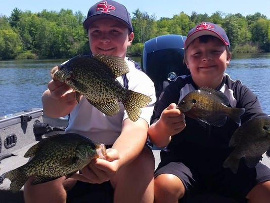 Austin and C.J. Stankowski with some nice panfish