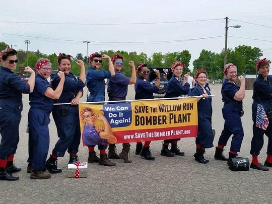 The Rosie the Riveter tribute lunchbox drill team has applied to appear in America's Thanksgiving parade in Detroit.