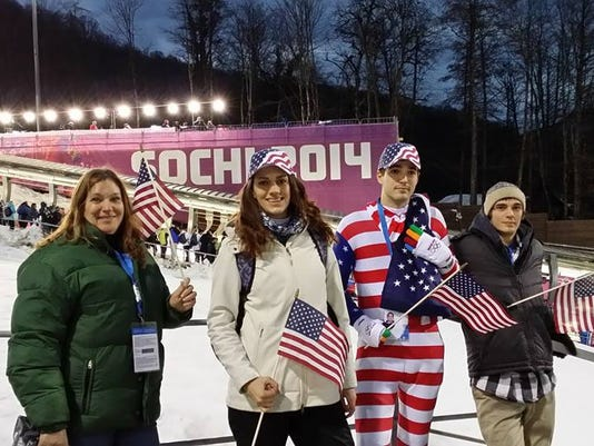 Summer Britcher's family made the trip to cheer her on at the Sochi Games in Russia, including Summer's mother, Carrie, her sister, Meredith, her brother, Alex, and her brother, William.