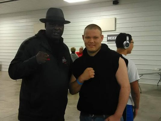 James Buster Douglas with Nick Ziegler Sports Bash 2017